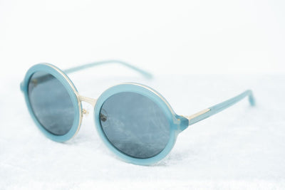 Phillip Lim Sunglasses with Round Blue Brushed Gold and Navy Blue Lenses - PL11C16SUN - Watches & Crystals