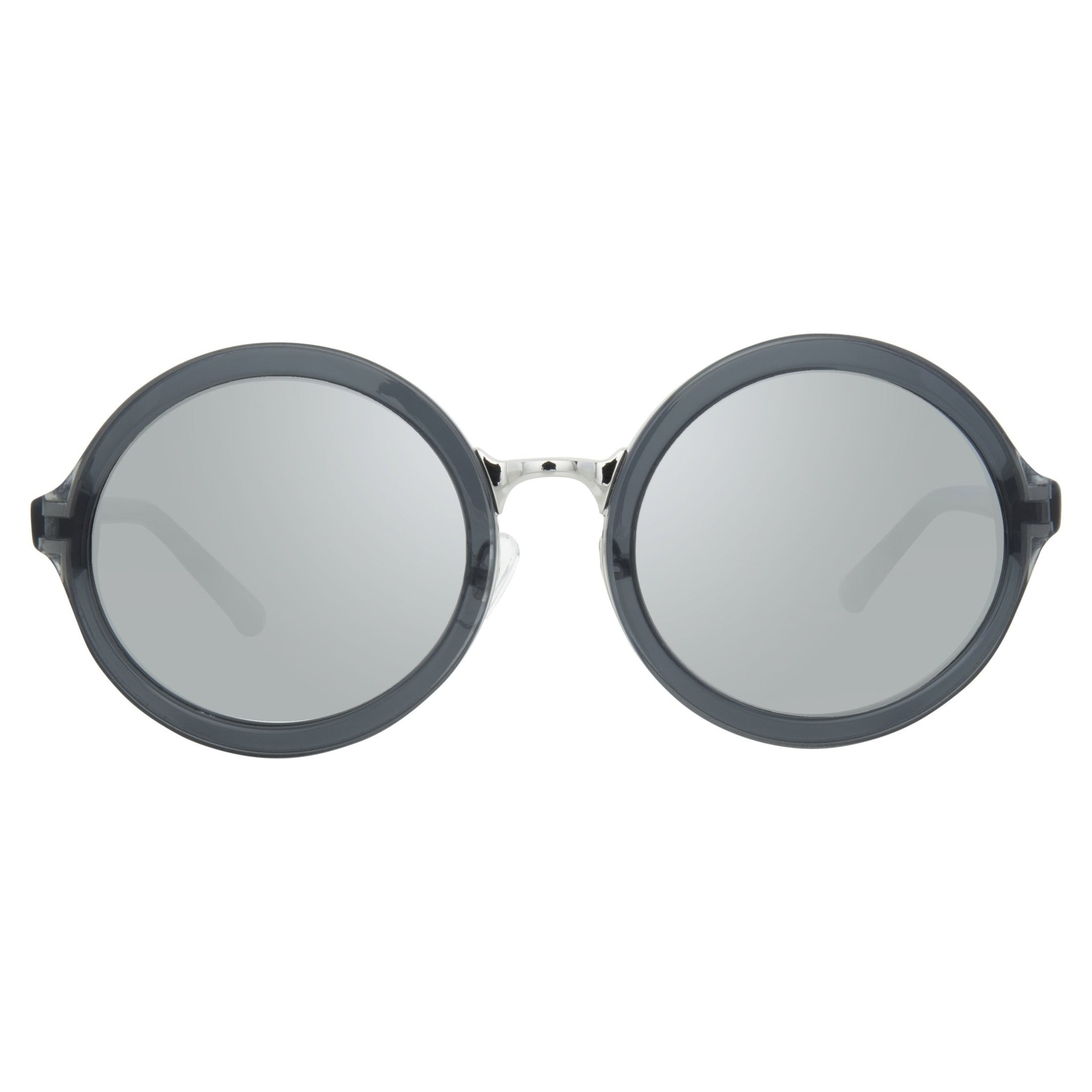 Phillip Lim Sunglasses with Round Grey Nickel and Silver Mirror Lenses Category 3 - PL11C33SUN - Watches & Crystals