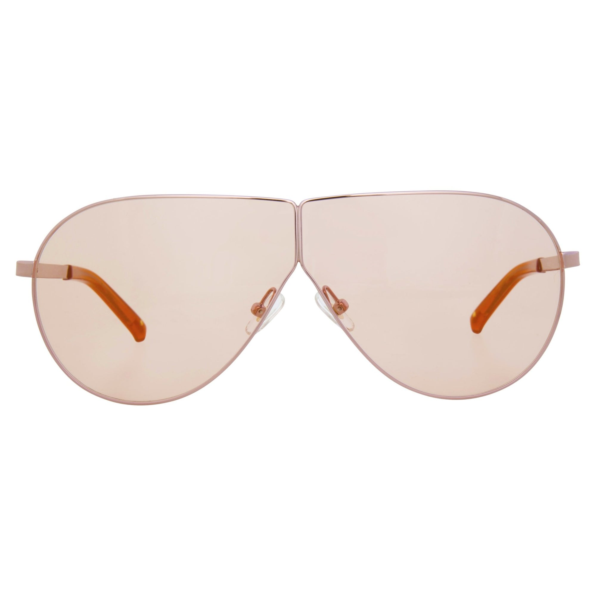 Phillip Lim Sunglasses Women's Shield Shape Light Gold CAT1 Rose Lenses PL171C3SUN - Watches & Crystals