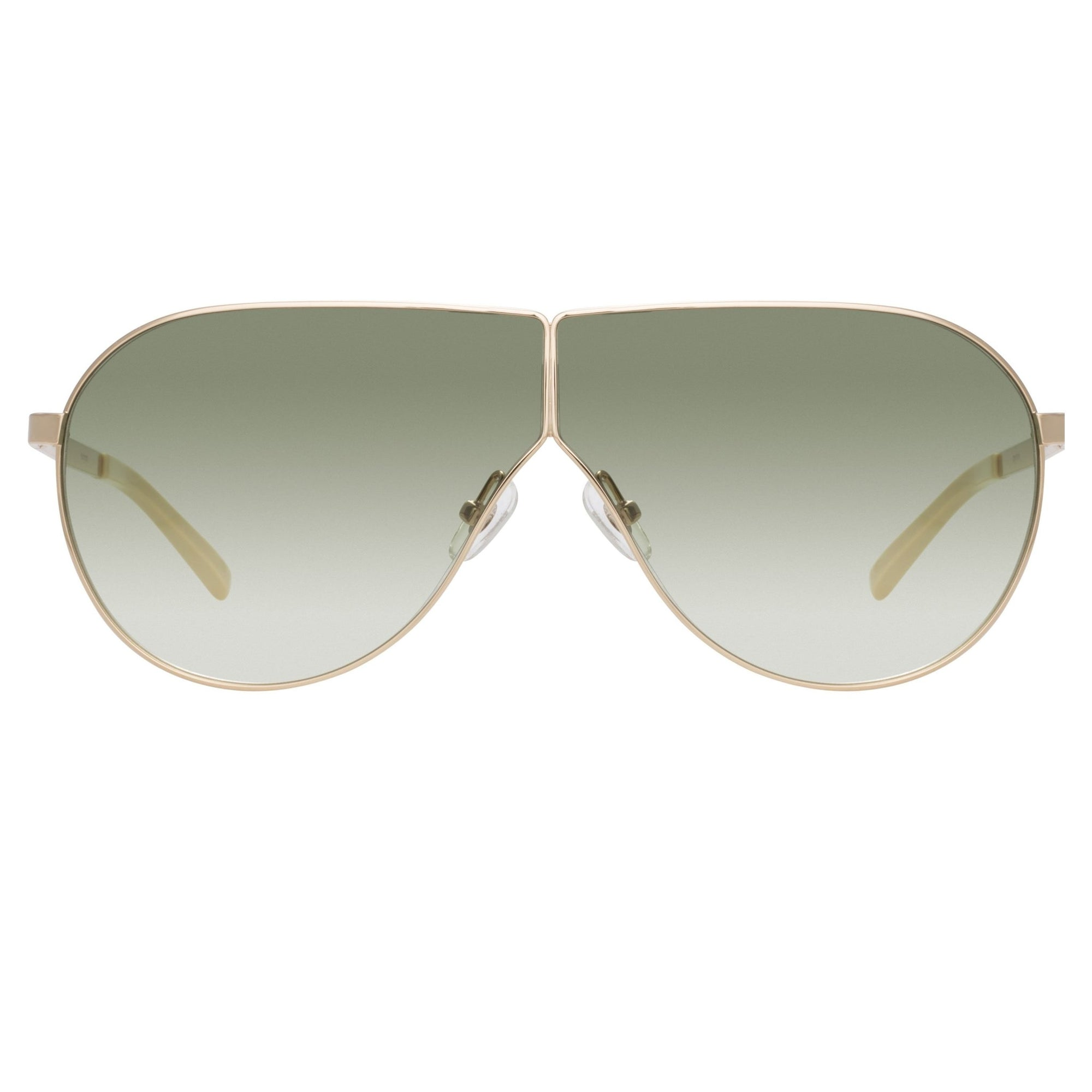 Phillip Lim Sunglasses Women's Shield Shape Light Gold CAT2 Green Gradient Lenses PL171C12SUN - Watches & Crystals