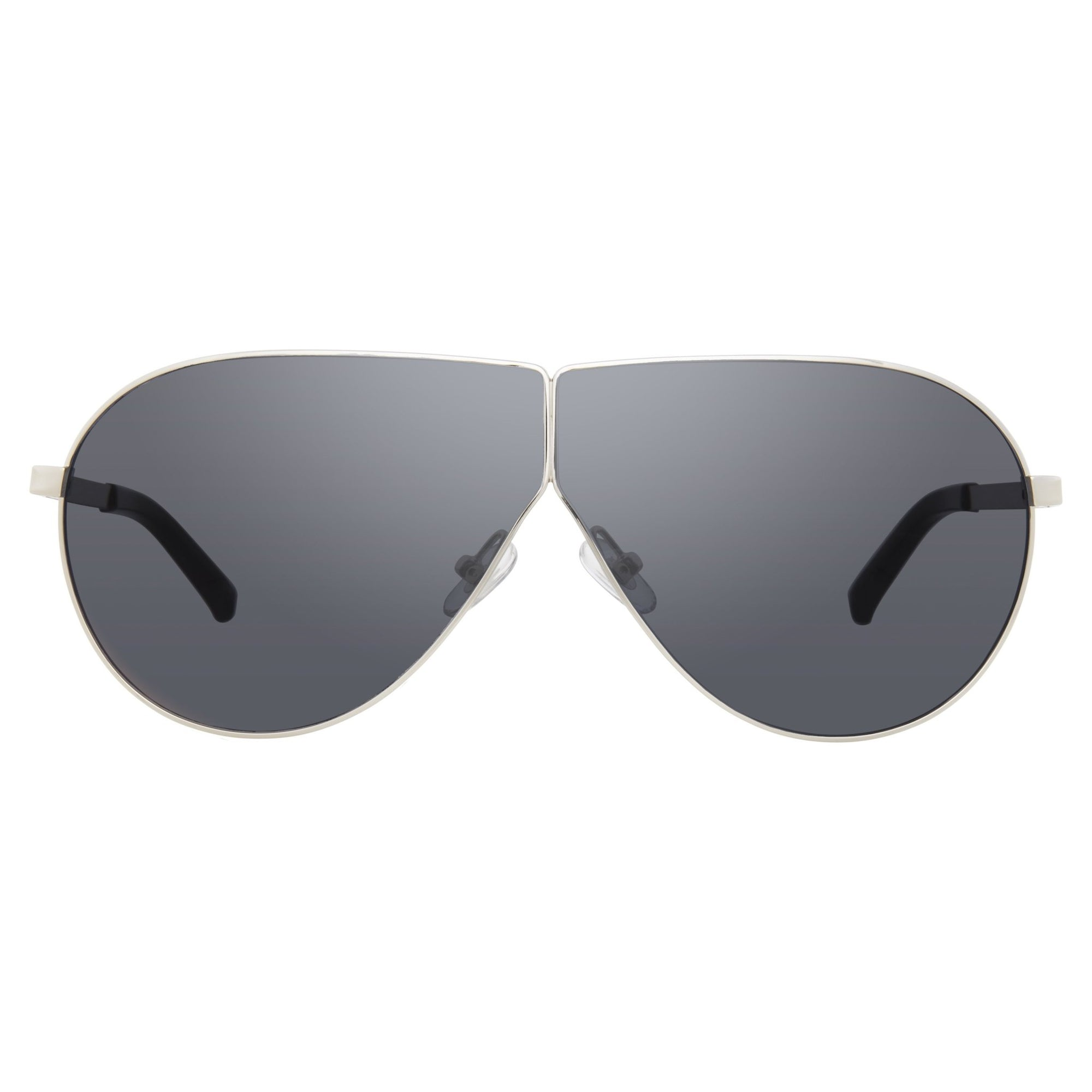 Phillip Lim Sunglasses Women's Shield Shape Silver Frame with CAT4 Black Lenses PL171C7SUN - Watches & Crystals