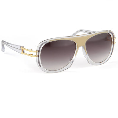 Prabal Gurung Sunglasses Female Aviator Olive and Clear Acetate CAT3 Grey Lenses PG10C1SUN - Watches & Crystals