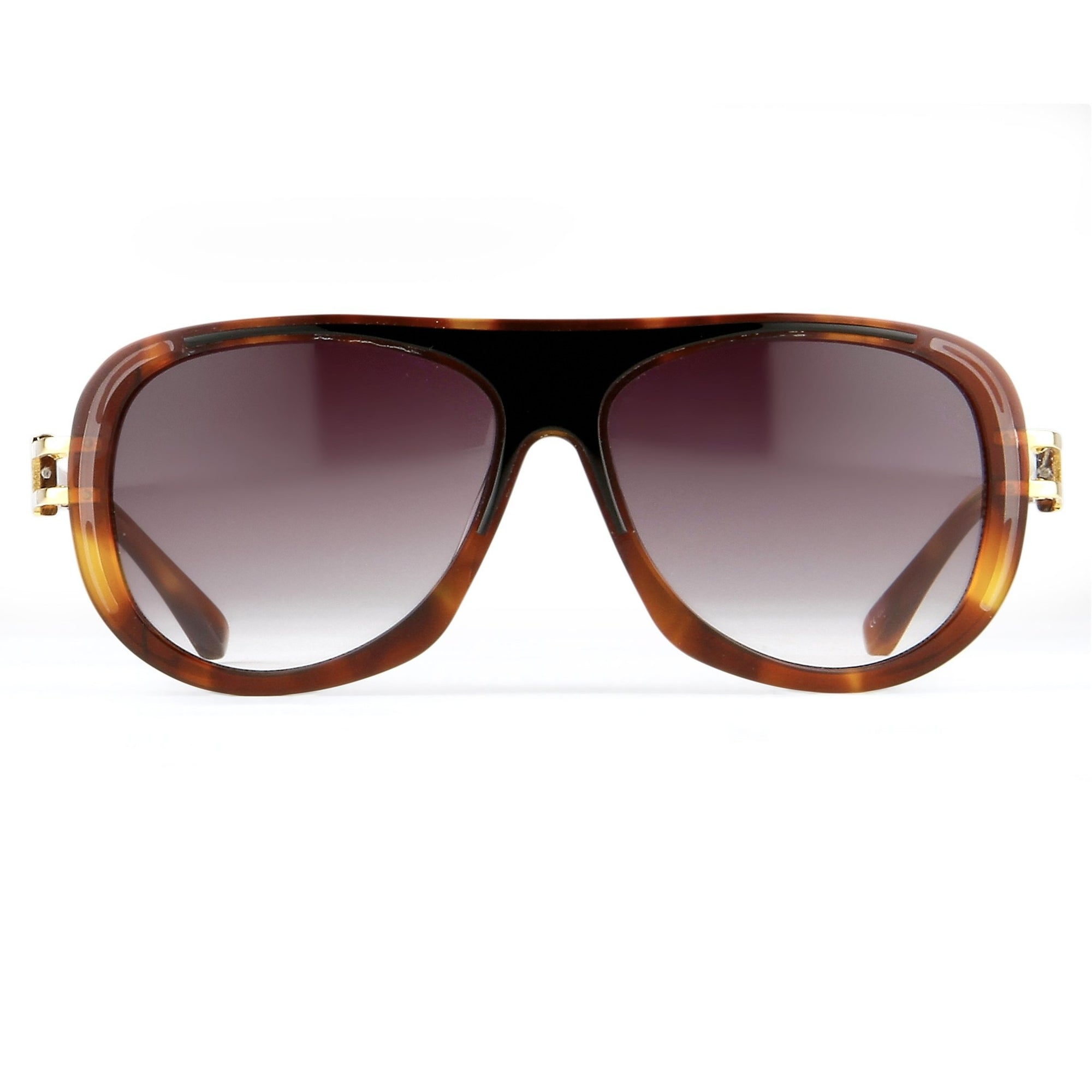 Prabal Gurung Sunglasses Female Aviator Tortoise Shell Acetate CAT3 Grey Lenses PG10C3SUN - Watches & Crystals