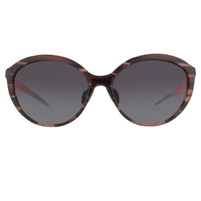 Prabal Gurung Sunglasses Female Oversized Pink Horn Category 3 Grey Graduated Lenses PG22C2SUN - Watches & Crystals