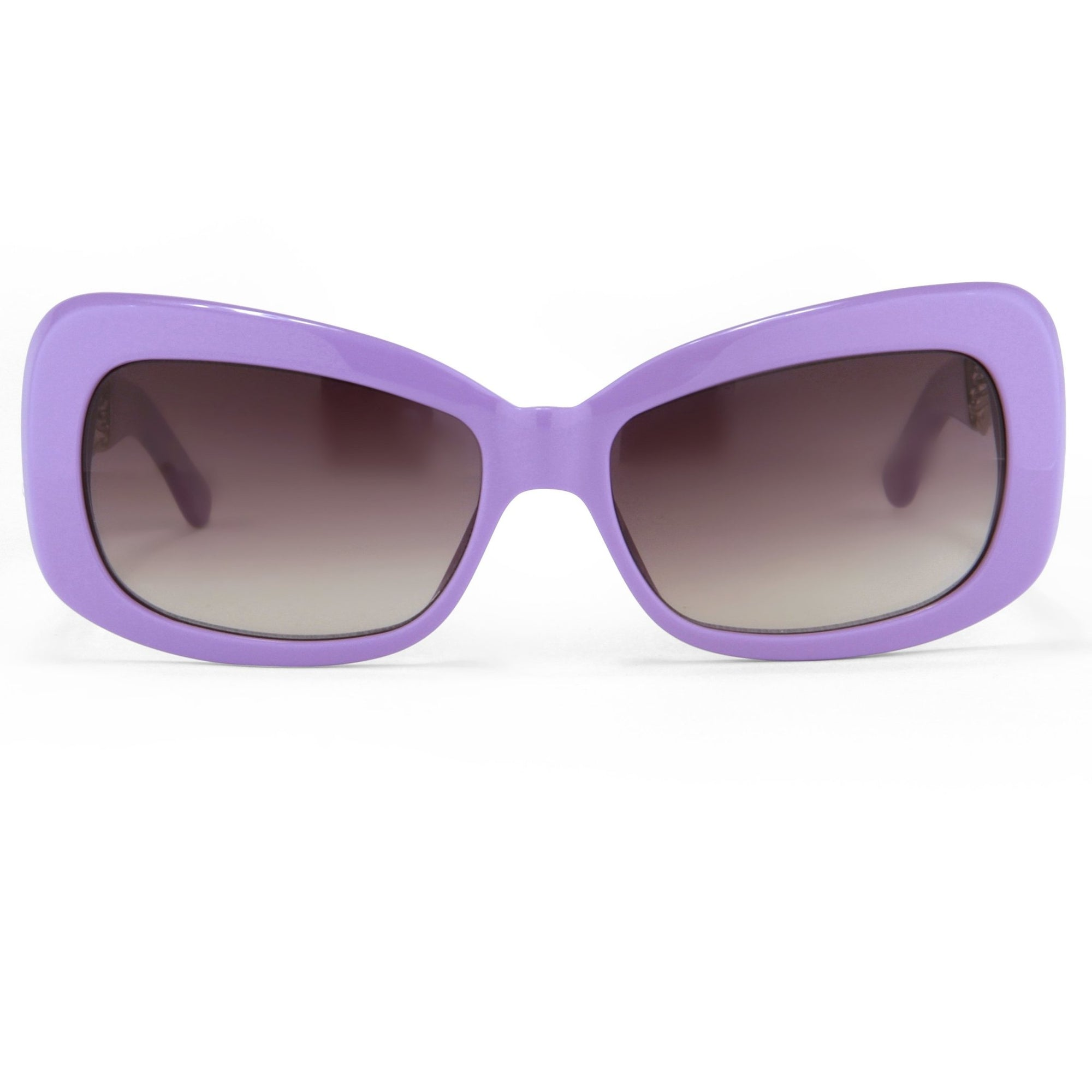 Prabal Gurung Sunglasses Female Rectangle Purple Acetate CAT2 Grey Lenses PG14C4SUN - Watches & Crystals