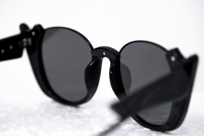 Prabal Gurung Sunglasses Female Round Black Category 3 Black Smoke Mirror Lenses PG24C2SUN - Watches & Crystals