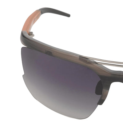 Prabal Gurung Sunglasses Female Special Frame Grey Orange Category 3 Grey Gradient Lenses PG21C3SUN - Watches & Crystals