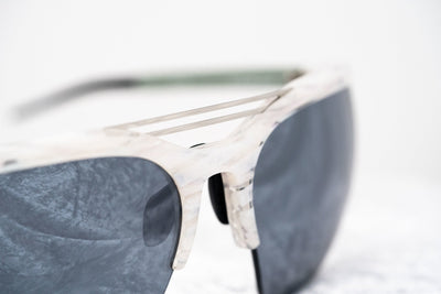 Prabal Gurung Sunglasses Female Special Frame White Horn Category 3 Blue Mirror Lenses PG21C4SUN - Watches & Crystals