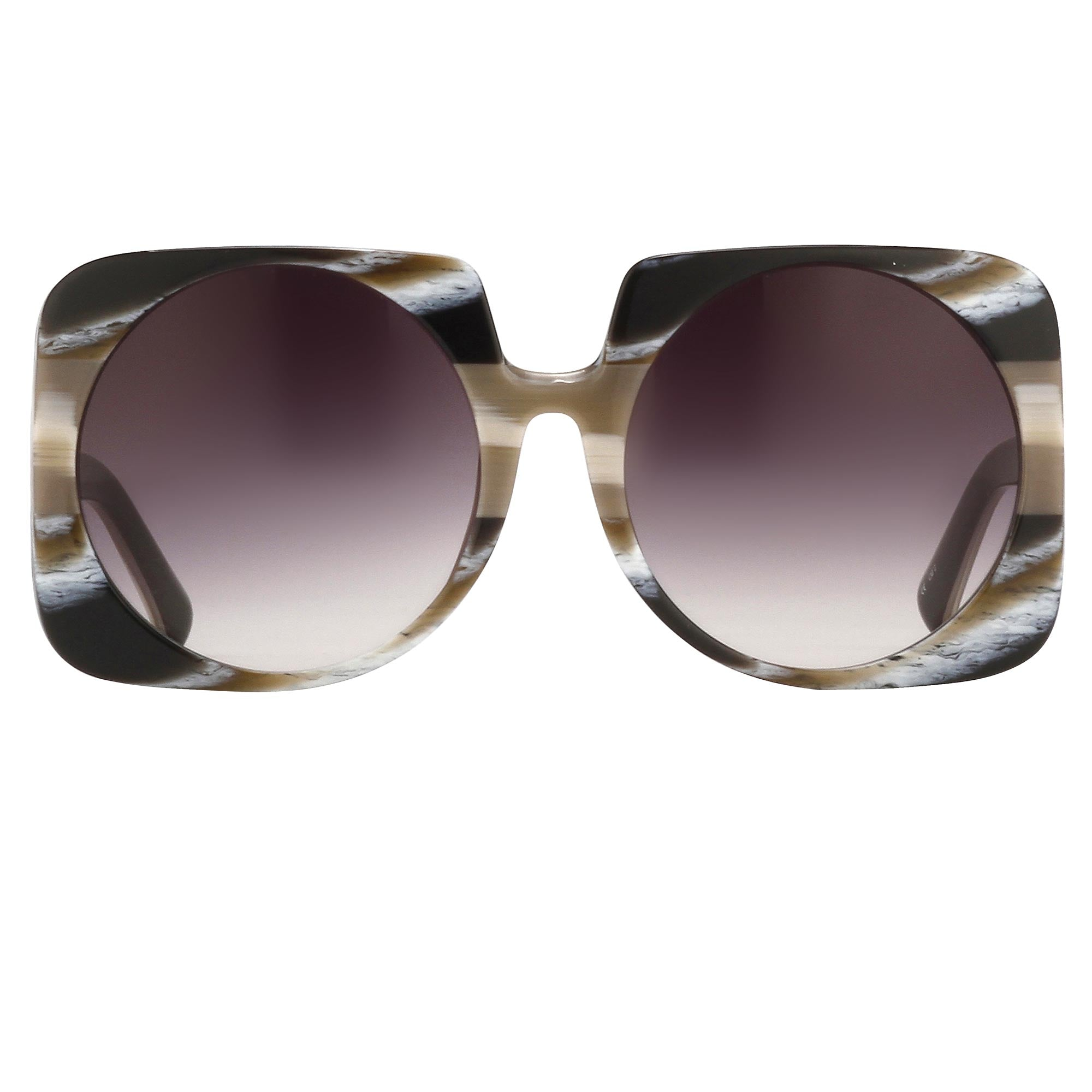 Prabal Gurung Sunglasses Female Square Cream Taupe Horn Category 3 Lenses Grey Graduated PG20C2SUN - Watches & Crystals