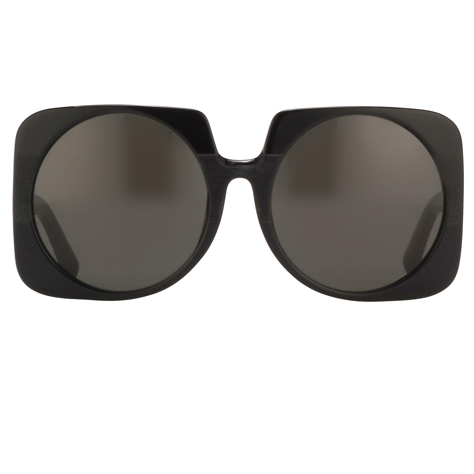 Prabal Gurung Sunglasses Female Square Shiny Black Category 3 Black Lenses PG20C1SUN - Watches & Crystals