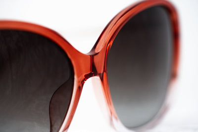 Prabal Gurung Sunglasses Oversized Female Red to Clear/Light Gold Frame Category 3 Grey Graduated Lenses PG23C2SUN - Watches & Crystals
