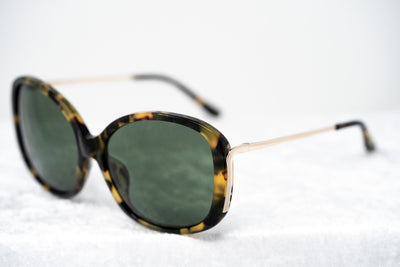 Prabal Gurung Sunglasses Oversized Female Tortoiseshell Frame Category 3 Solid Green Lenses PG23C6SUN - Watches & Crystals