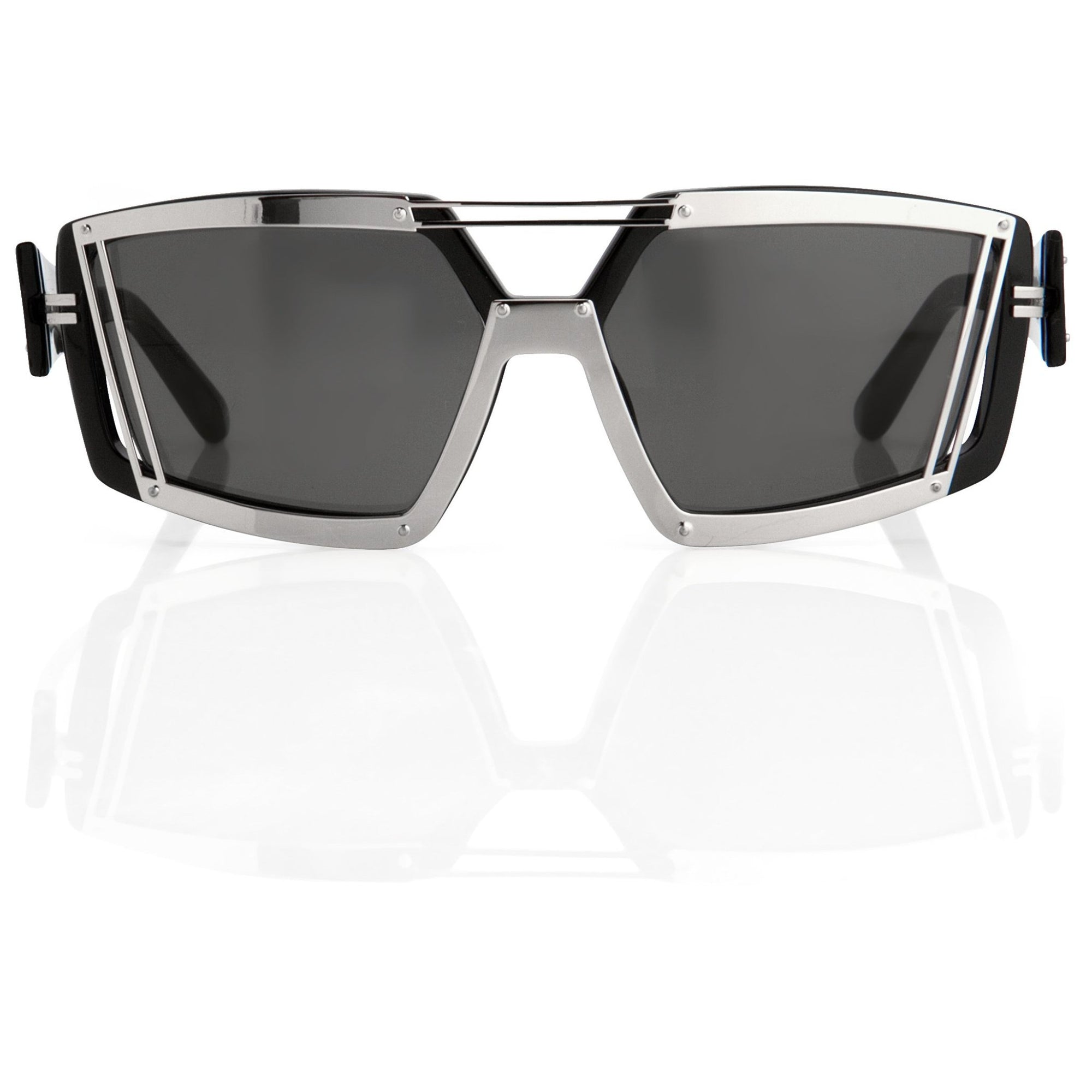 Prabal Gurung Sunglasses Rectangular Black Bar With Grey Category 3 Lenses PG3C1SUN - Watches & Crystals