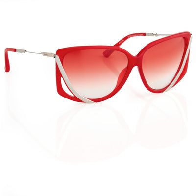 Prabal Gurung Sunglasses Rectangular Red Cut Out With Red Graduated Lenses PG4C3SUN - Watches & Crystals
