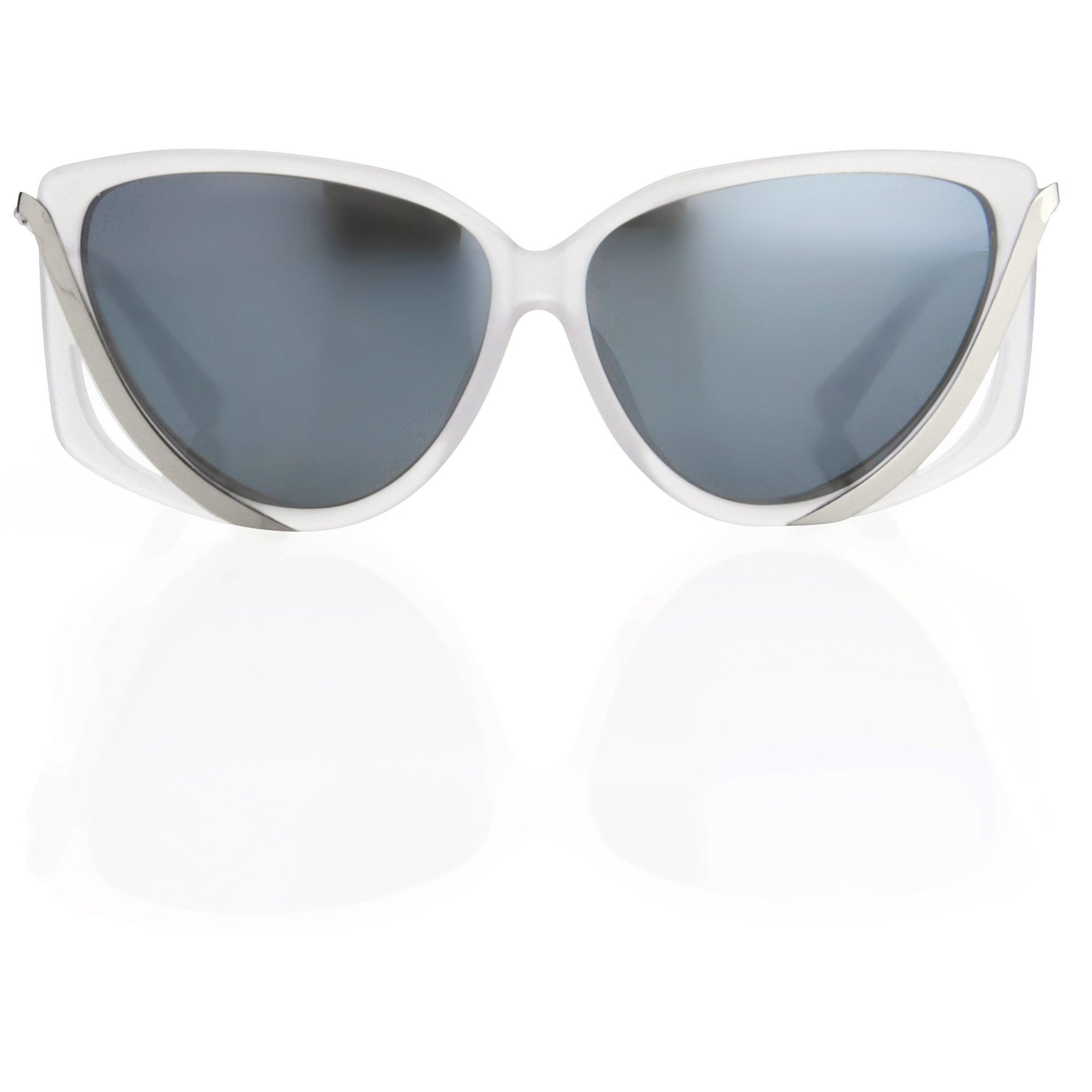 Prabal Gurung Sunglasses Rectangular Smokey White Cut Out With Grey Category 3 Graduated Lenses PG4C2SUN - Watches & Crystals