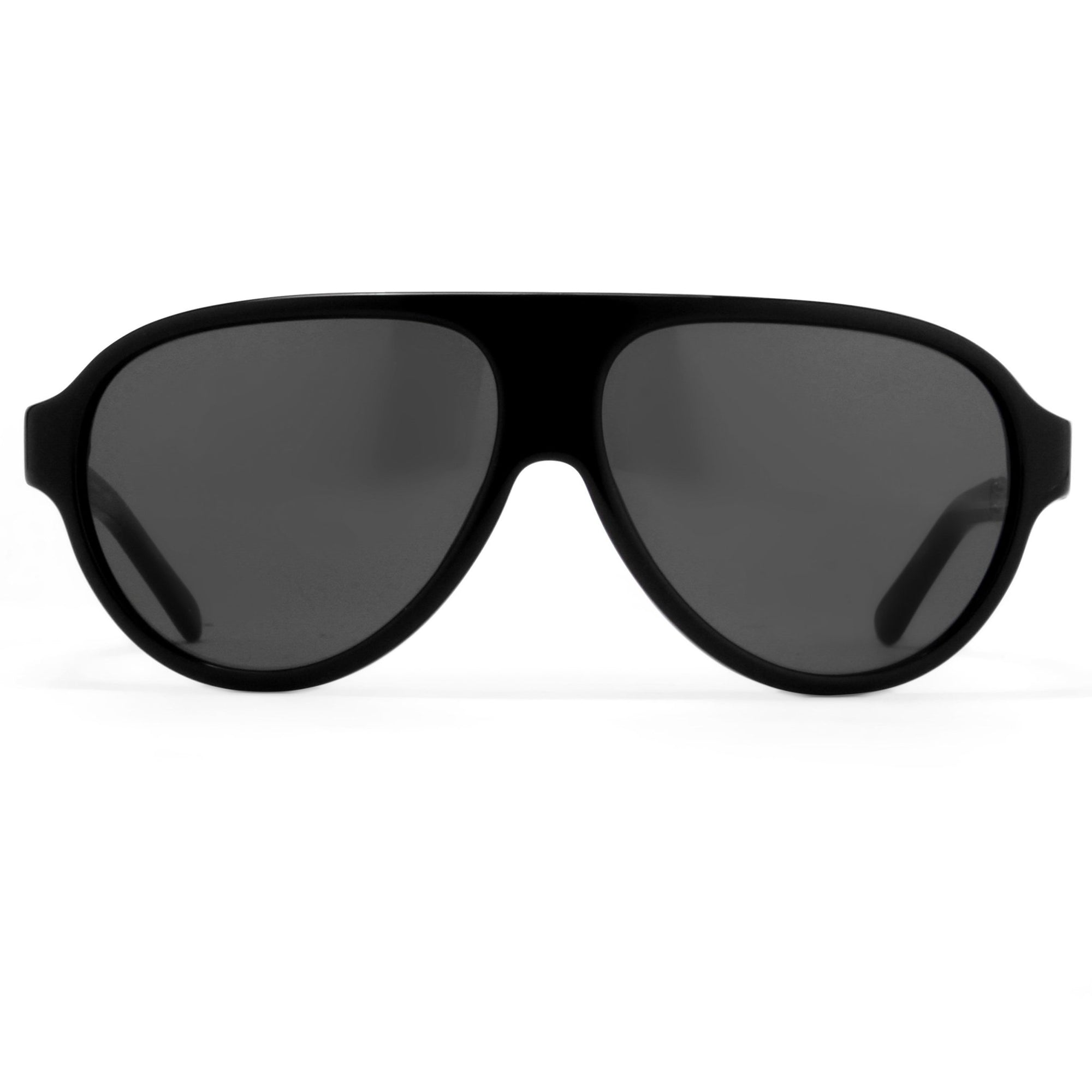 Prabal Gurung Sunglasses Unisex Aviator Black Acetate CAT3 Grey Lenses PG16C1SUN - Watches & Crystals
