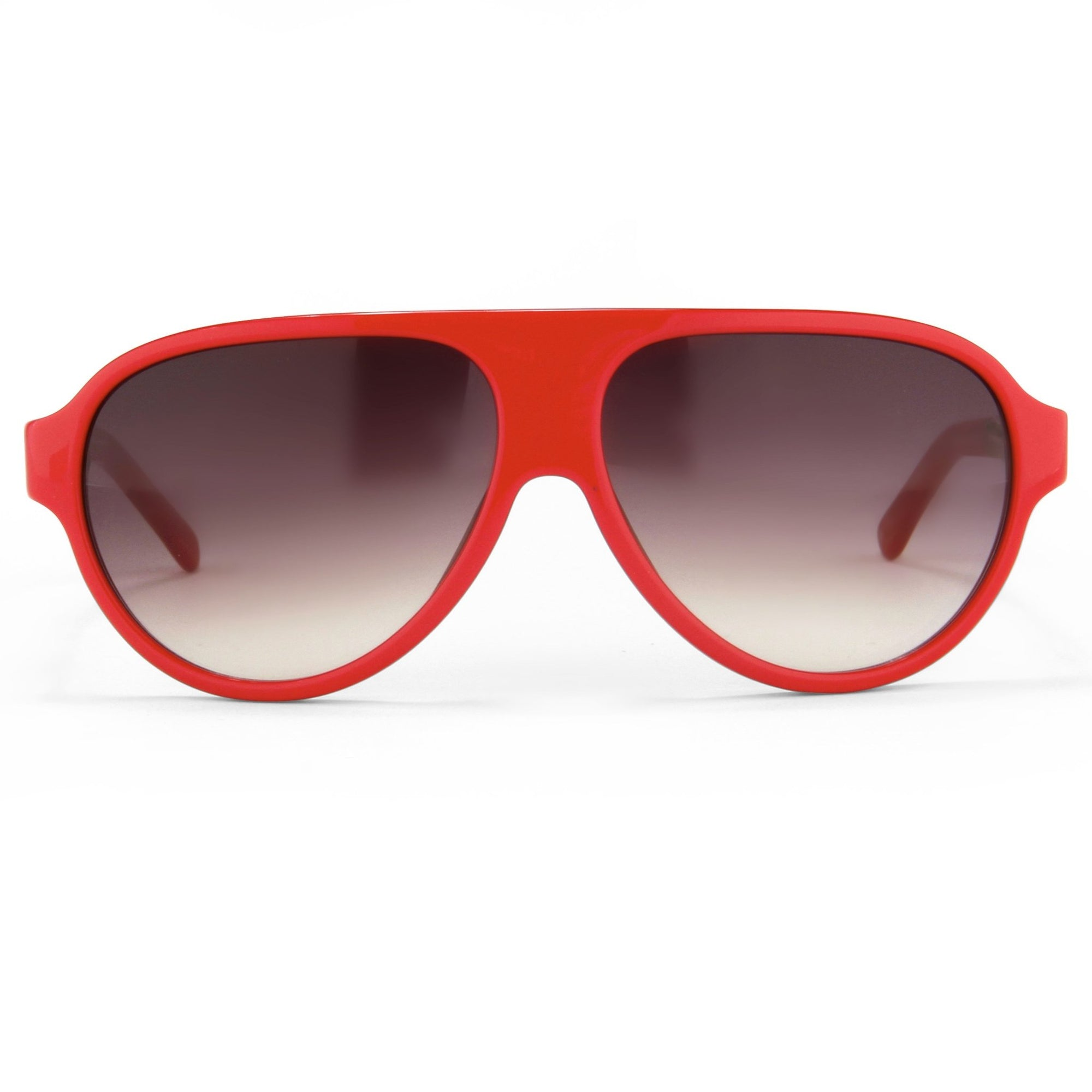 Prabal Gurung Sunglasses Unisex Aviator Red Acetate CAT 2 Grey Gradient Lenses PG16C4SUN - Watches & Crystals
