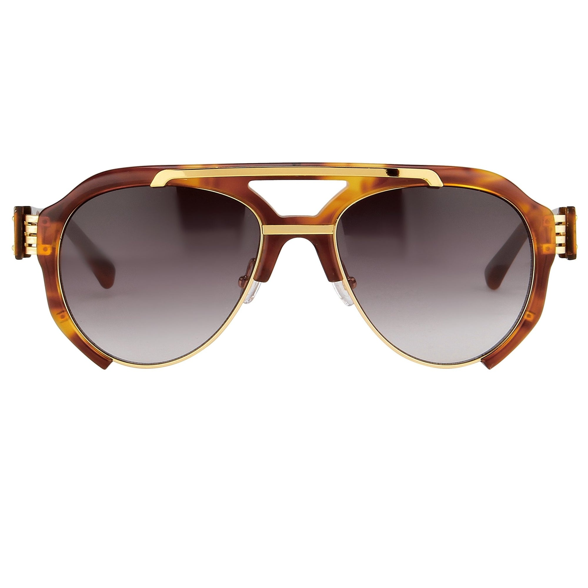 Prabal Gurung Sunglasses Unisex Aviator Tortoise Shell Acetate and Gold CAT3 Grey Gradient Lenses PG11C4SUN - Watches & Crystals