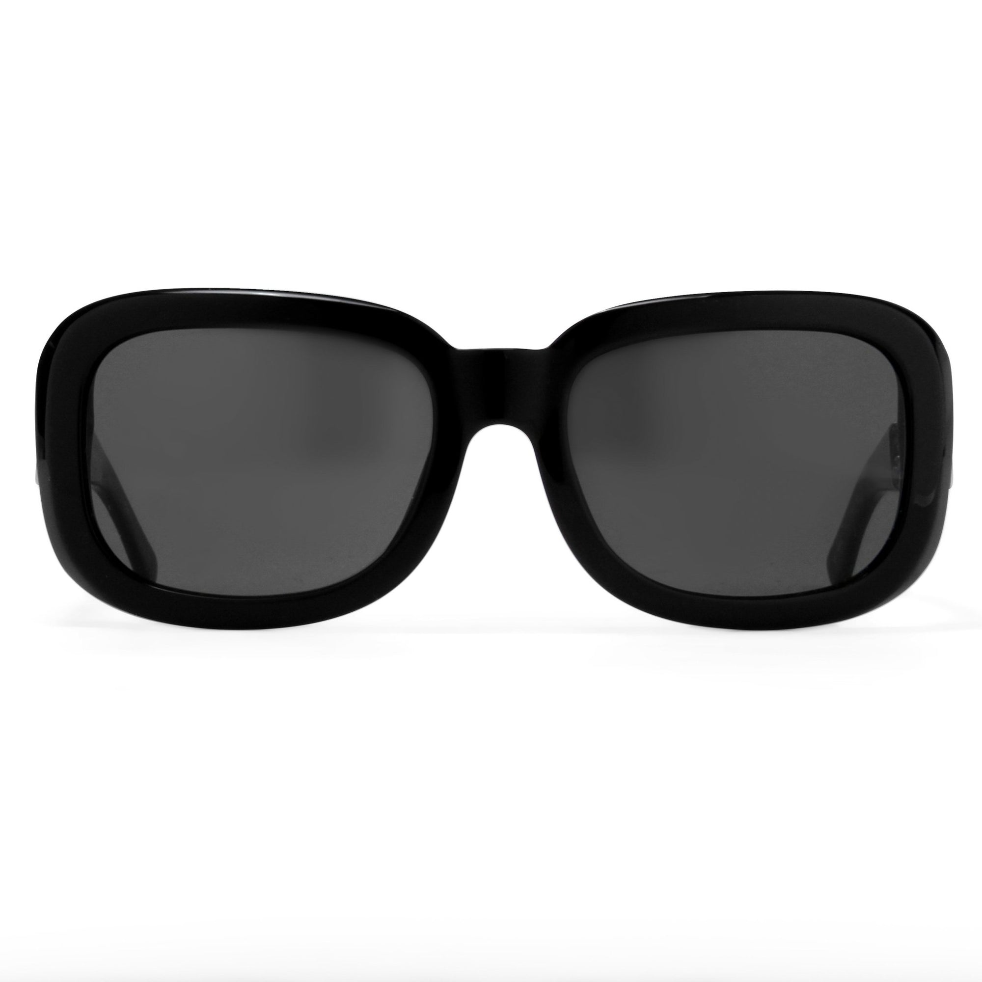 Prabal Gurung Sunglasses Women's Rectangle Black Acetate CAT3 Grey Lenses PG13C1SUN - Watches & Crystals