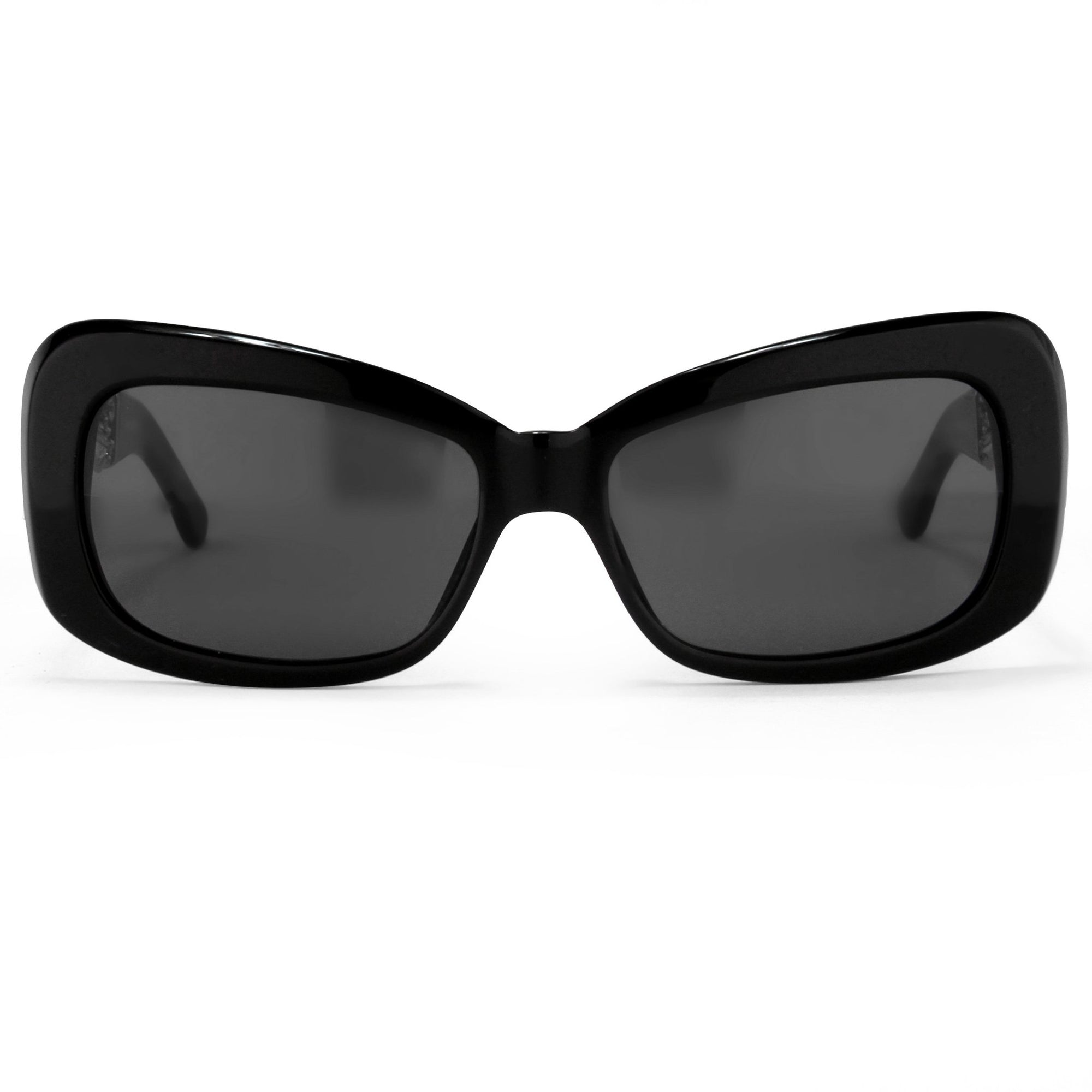Prabal Gurung Sunglasses Women's Rectangle Black Acetate CAT3 Grey Lenses PG14C1SUN - Watches & Crystals