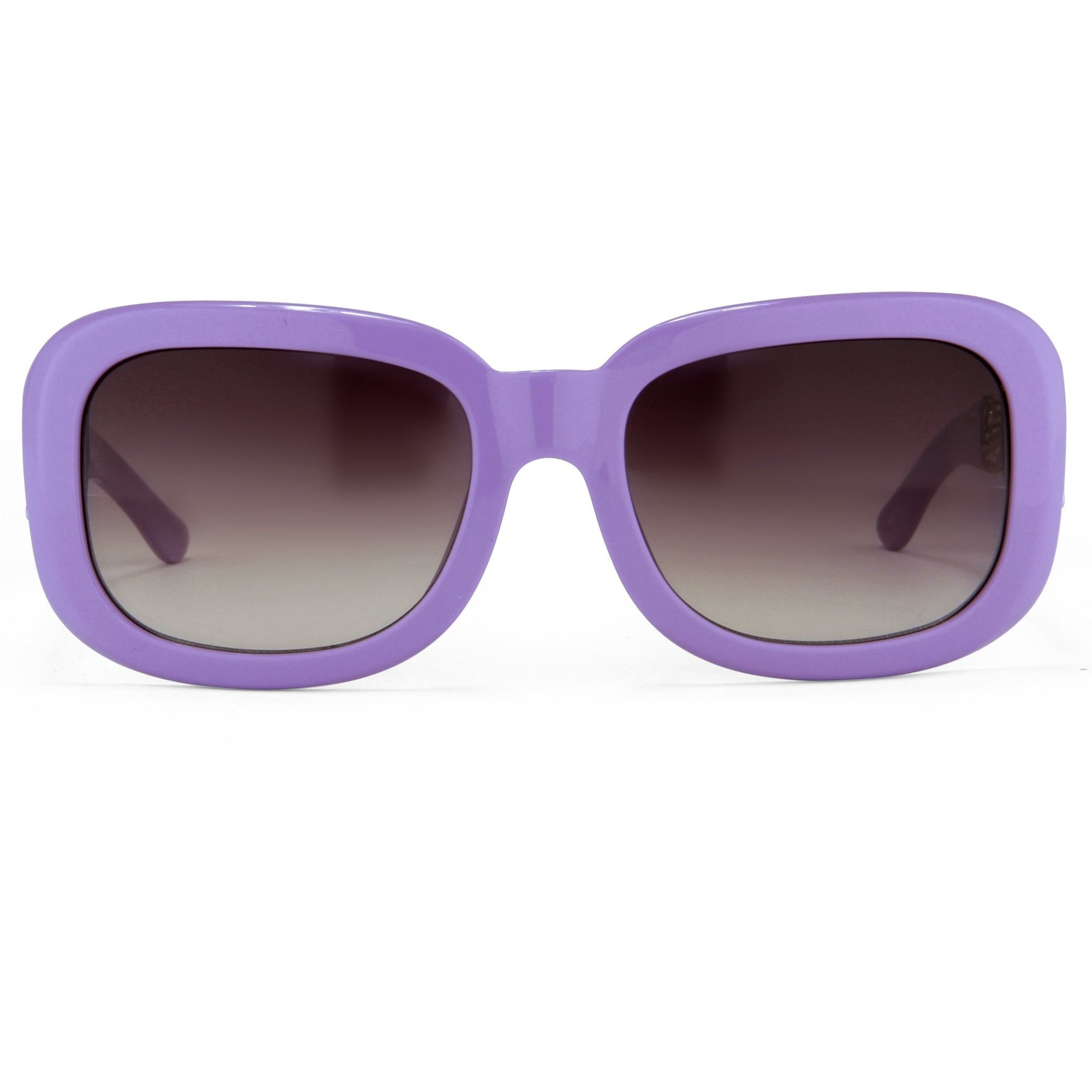 Prabal Gurung Sunglasses Women's Rectangle Purple Acetate CAT2 Grey Gradient Lenses PG13C4SUN - Watches & Crystals