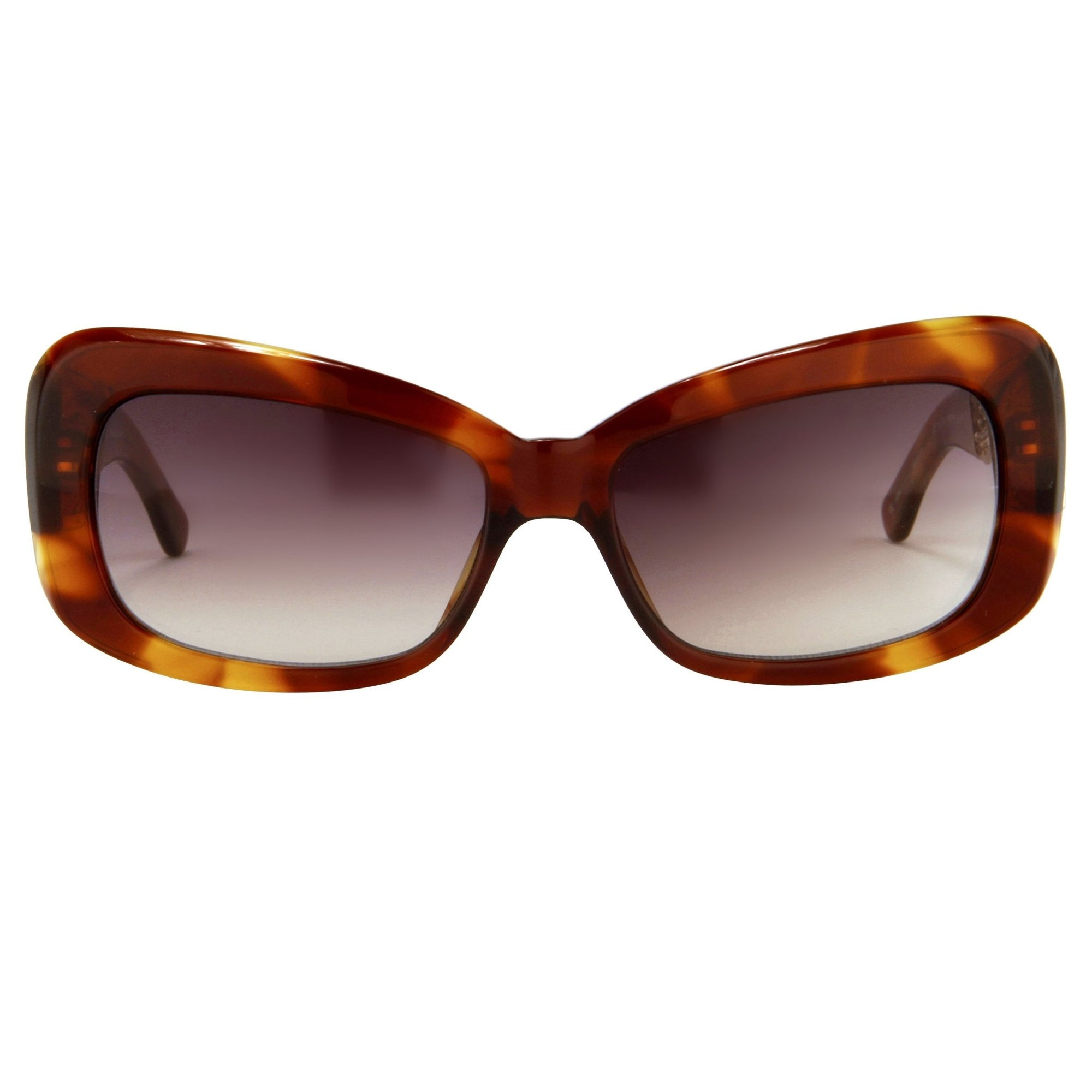 Prabal Gurung Sunglasses Women's Rectangle Tortoise Shell Acetate and Light Gold with CAT2 Grey Lenses PG14C2SUN - Watches & Crystals