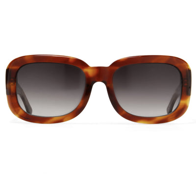 Prabal Gurung Sunglasses Women's Rectangle Tortoise Shell Acetate CAT2 Grey Gradient Lenses PG13C2SUN - Watches & Crystals
