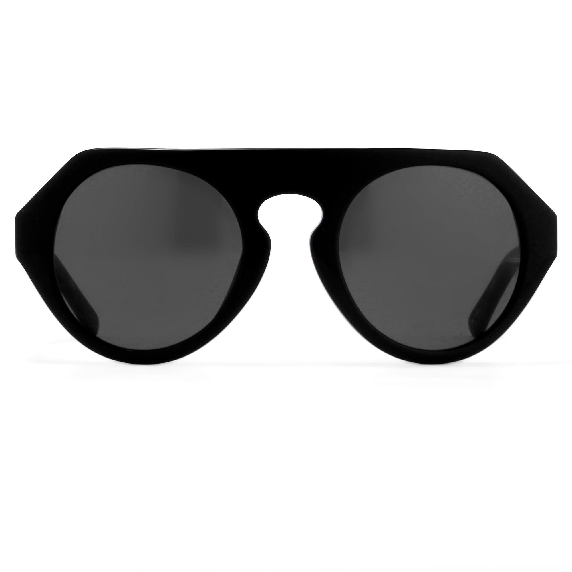 Prabal Gurung Sunglasses Women's Round Flat Top Black Acetate CAT3 Grey Lenses PG15C1SUN - Watches & Crystals
