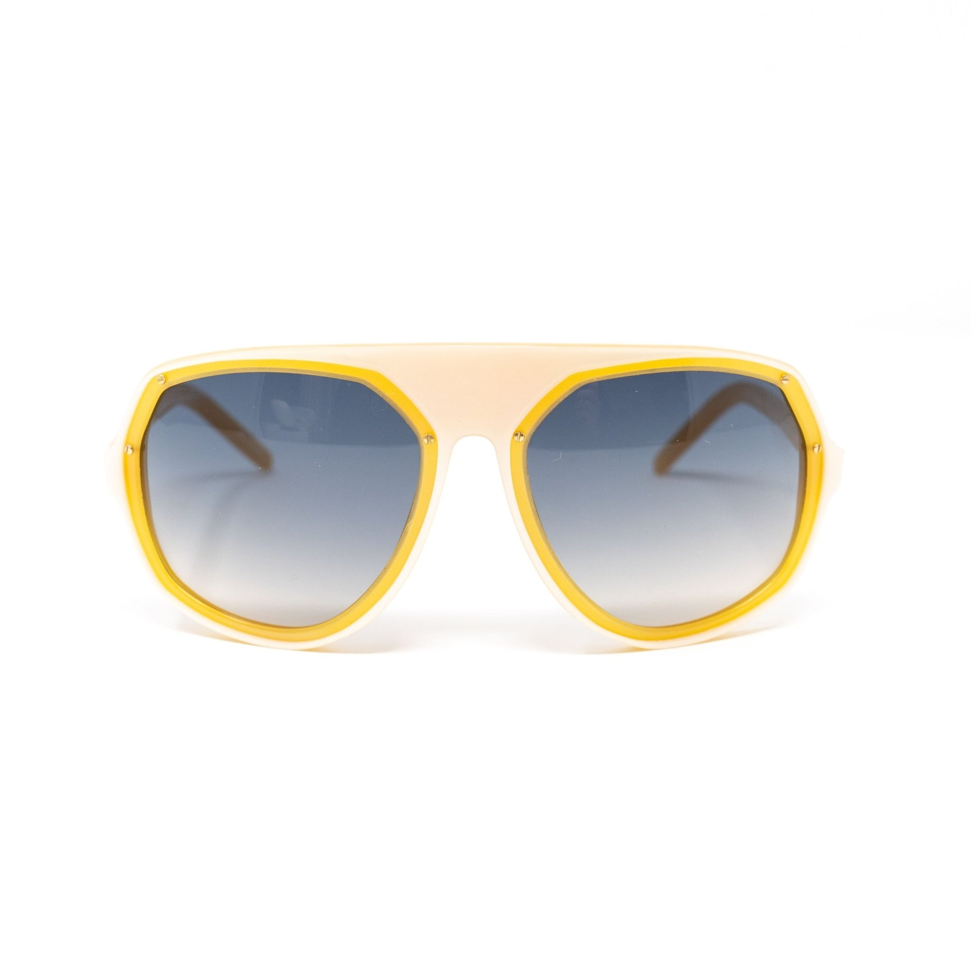 Raf Simons Sunglasses Angular Pearl Orange and Blue Lenses - 8RAF1DPEARLORANGE - Watches & Crystals
