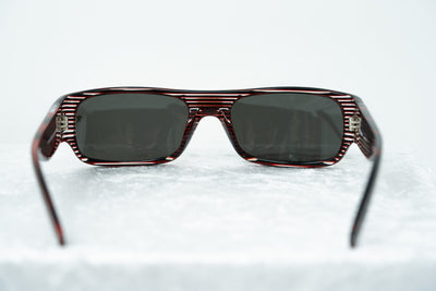Raf Simons Sunglasses Flat Top Black Red Stripes and Grey Lenses - 9RAF9C2BLACKRED - Watches & Crystals