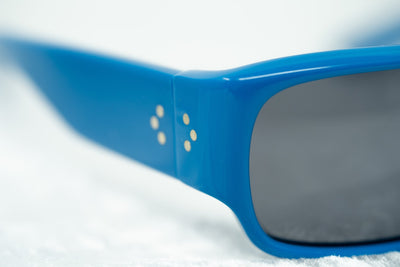 Raf Simons Sunglasses Flat Top Blue and Dark Grey Lenses Category 3 - 9RAF9C5BLUEACETATE - Watches & Crystals