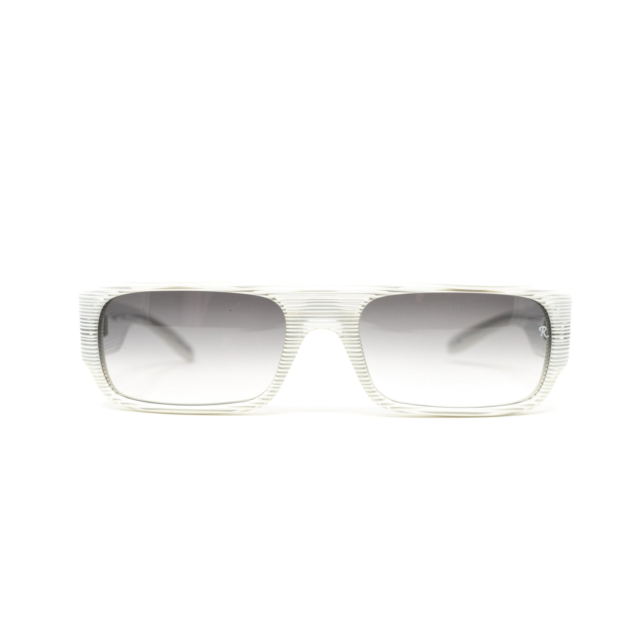 Raf Simons Sunglasses Flat Top White Stripes and Grey Lenses - 9RAF9C4WHITECLEAR - Watches & Crystals