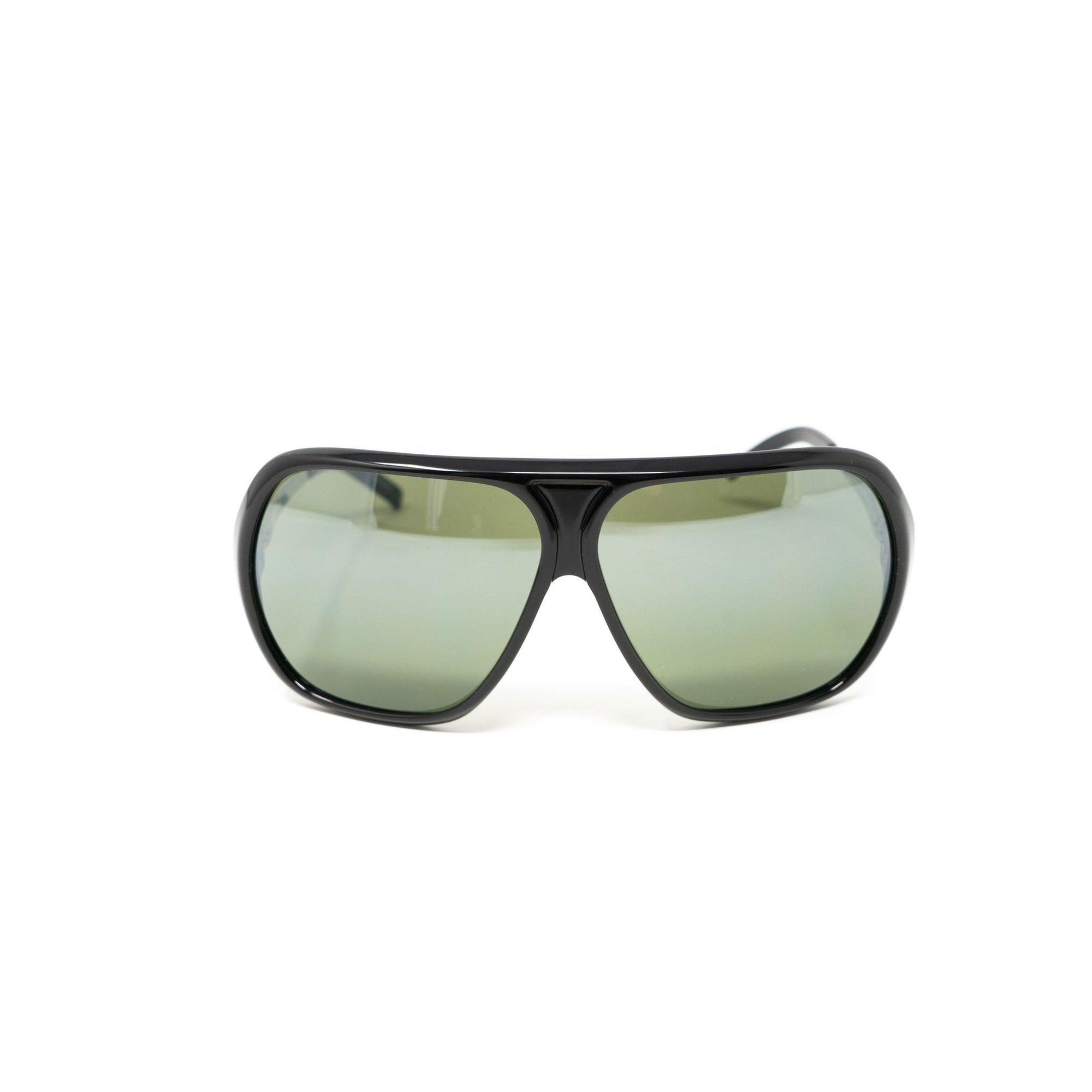 Raf Simons Sunglasses Oversized Frame Black and Green Lenses Category 3 - 8RAF2ABLACKMIRROR - Watches & Crystals