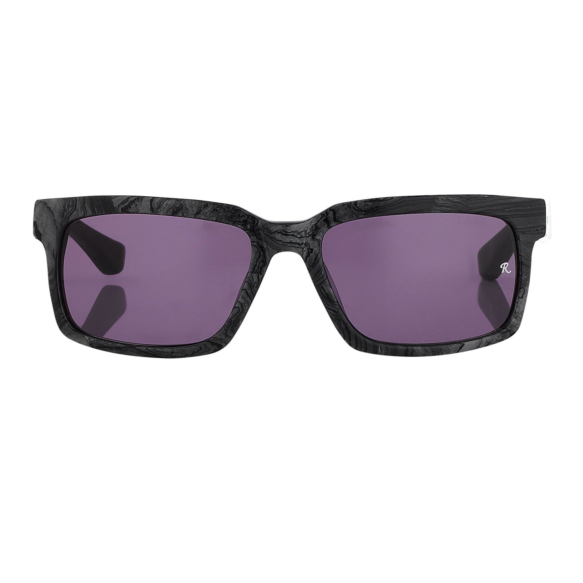Raf Simons Sunglasses Rectangular Black Texture and Grey Lenses - RAF16C7SUN - Watches & Crystals