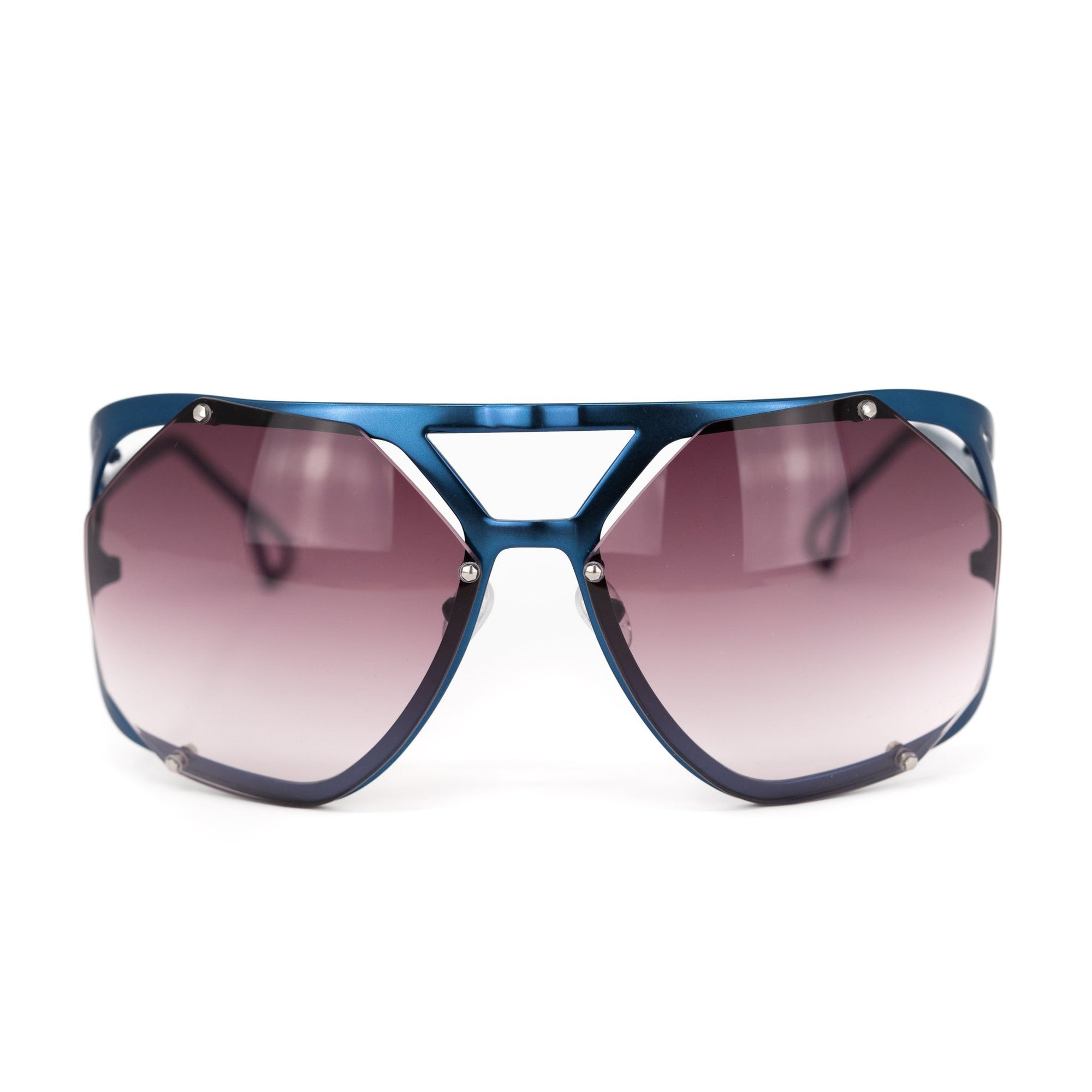 Raf Simons Sunglasses Shield Blue and Grey Lenses Category 3 - 8RAF4ADARKBLUE - Watches & Crystals