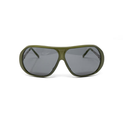 Raf Simons Sunglasses Shield Green Aluminium and Grey Lenses Category 3 - 8RAF6AGREEN - Watches & Crystals