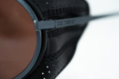 Raf Simons Sunglasses Wrap Dark Grey Leather Trim Sports and Brown Lenses Category 3 - 8RAF3BANTHRACITE - Watches & Crystals