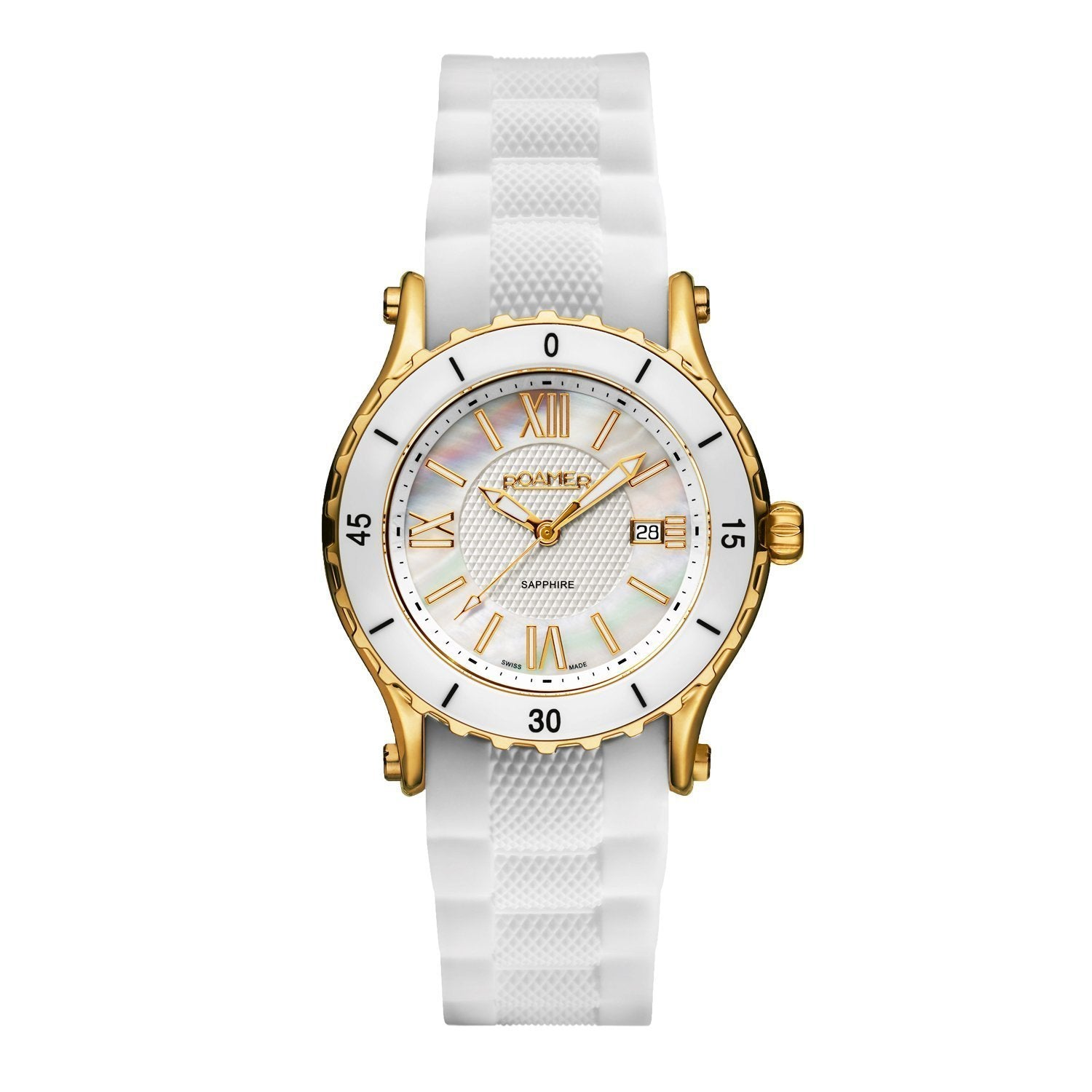 Roamer Ceraline Pure Date White - Watches & Crystals