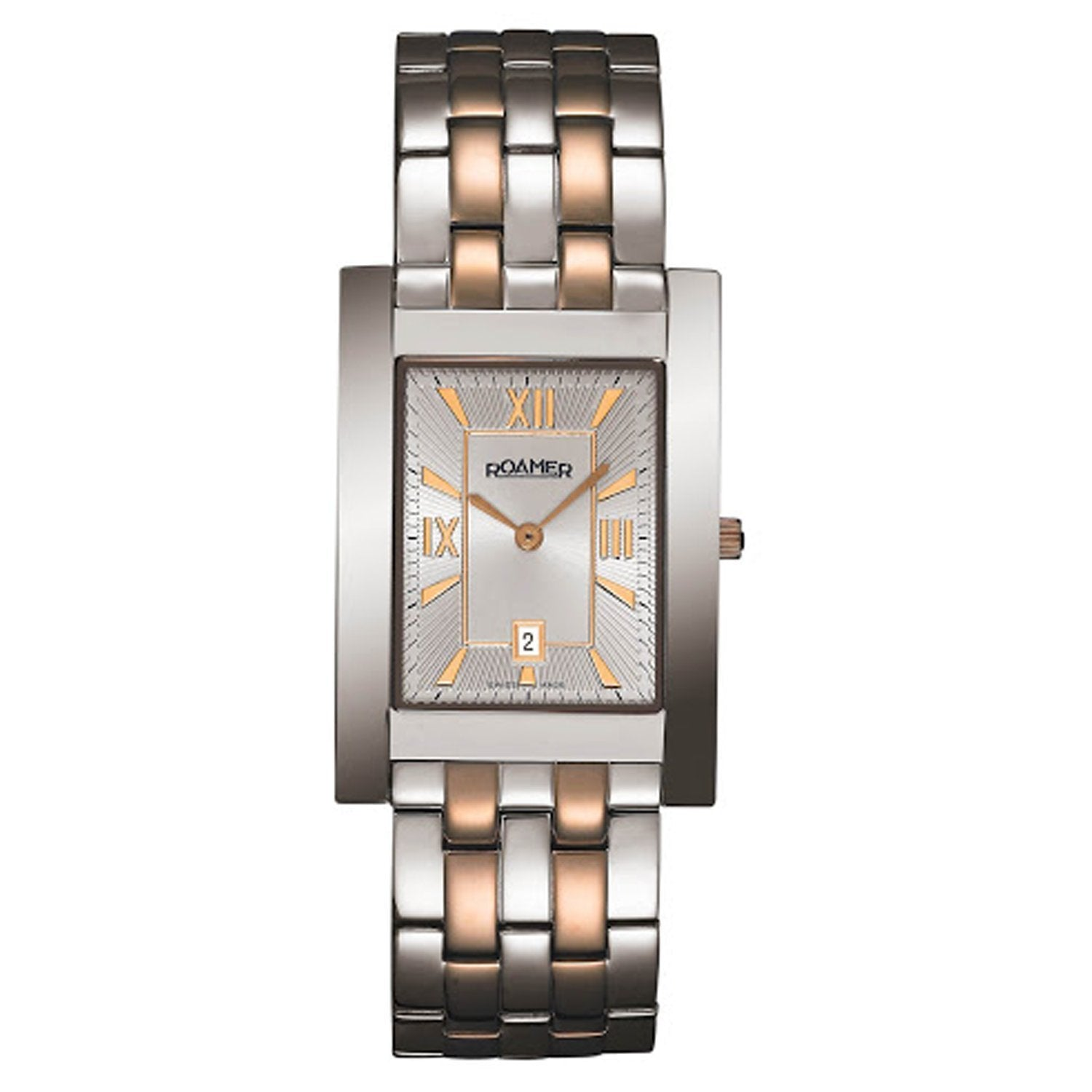 Roamer Classic Vanguard Rectangular Date Roman Numerals - Watches & Crystals