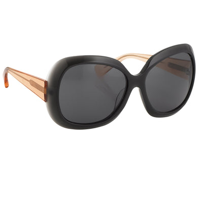 Rue De Mail Sunglasses Oversized Translucent Black with Black Lenses RDM2C2SUN - Watches & Crystals