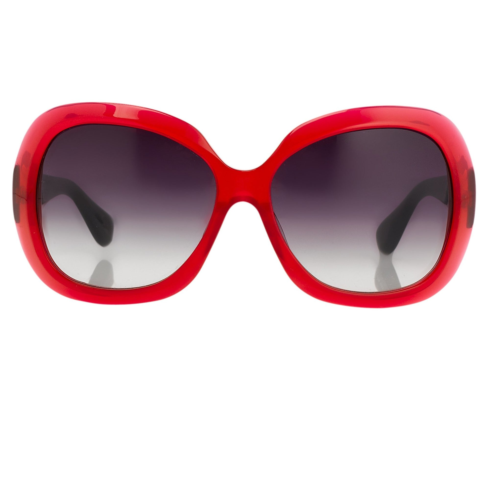 Rue De Mail Sunglasses Oversized Translucent Red with Grey Graduated Lenses RDM2C4SUN - Watches & Crystals