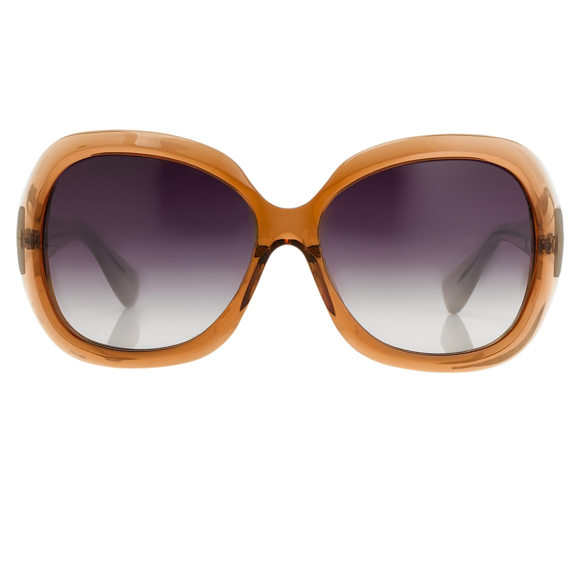 Rue De Mail Sunglasses Oversized Translucent Terracotta with Grey Graduated Lenses RDM2C3SUN - Watches & Crystals
