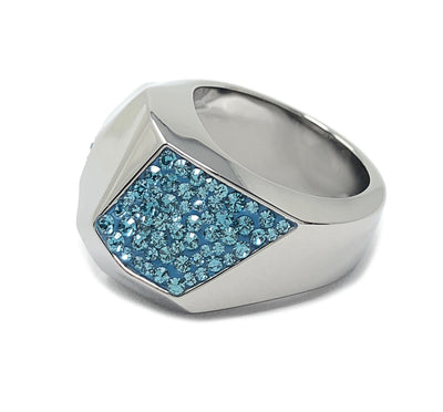Swarovski Atelier Ring Pointiage Monceau Ruthenium plated Blue Crystal size 52 Small 5141811 - Watches & Crystals