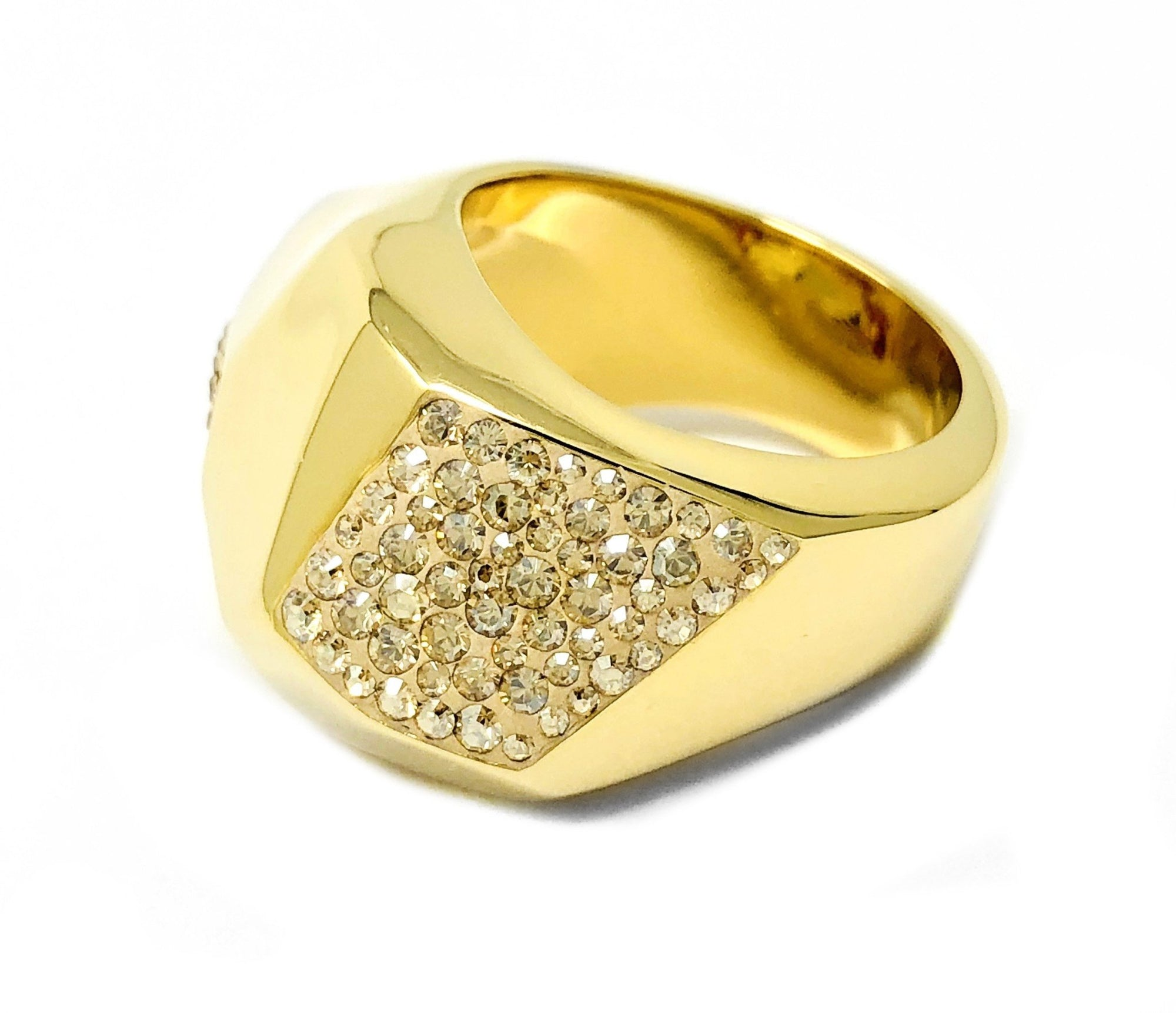 Swarovski Atelier Ring Pointiage Monceau Yellow Crystals Size 52 Small 5096584 - Watches & Crystals