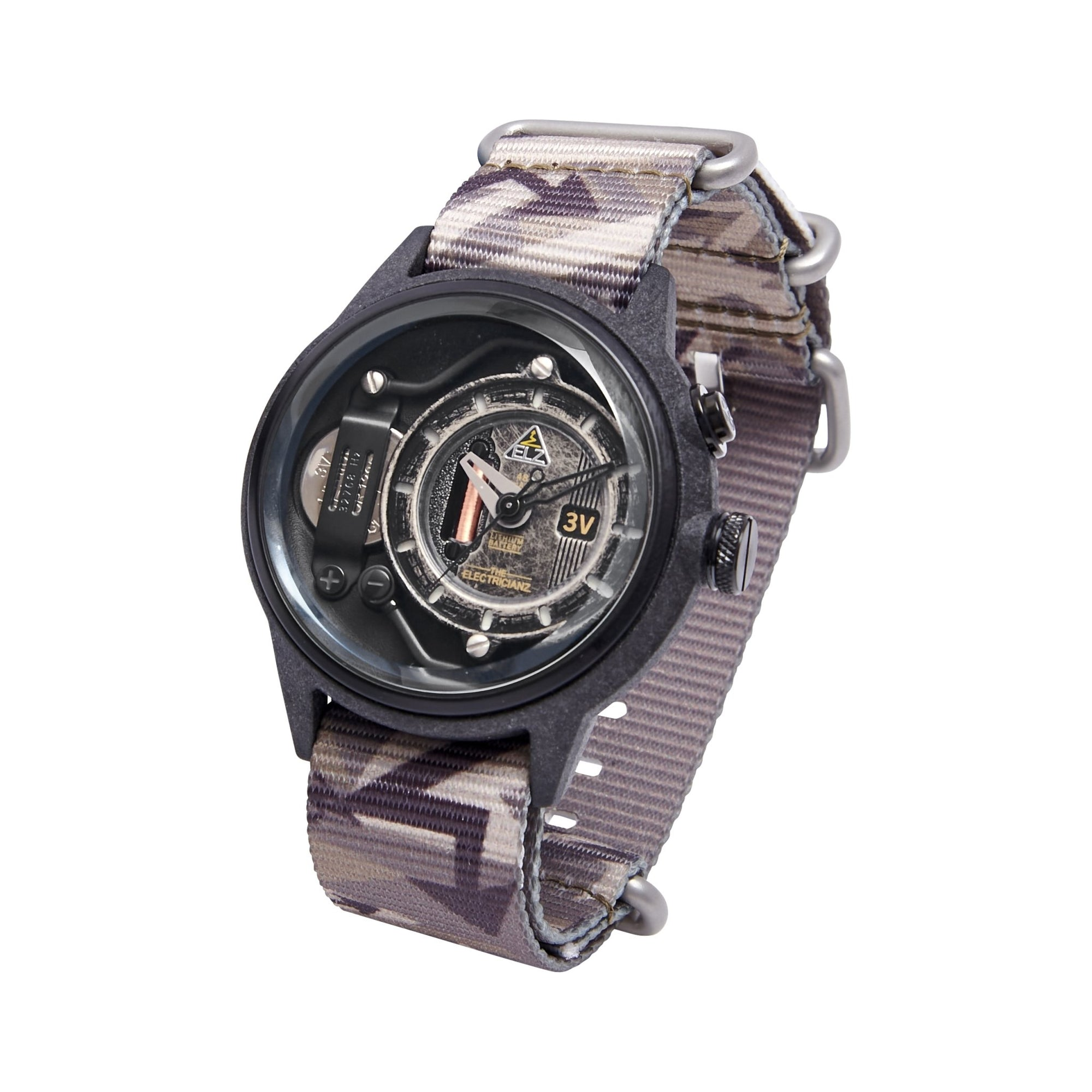 The Electricianz Nylon The Blackout Camoz - Watches & Crystals