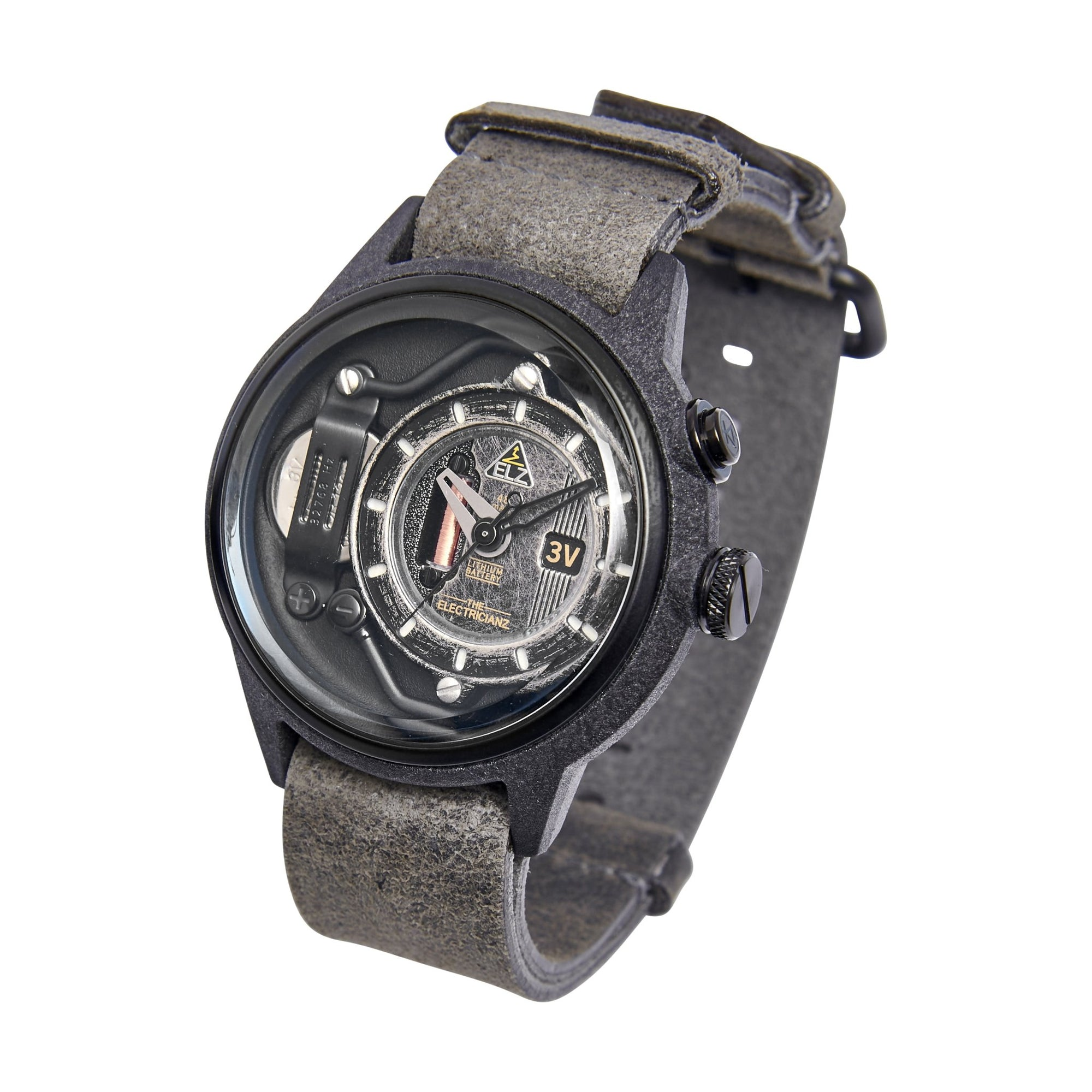 The Electricianz Nylon The Blackout Greyz - Watches & Crystals