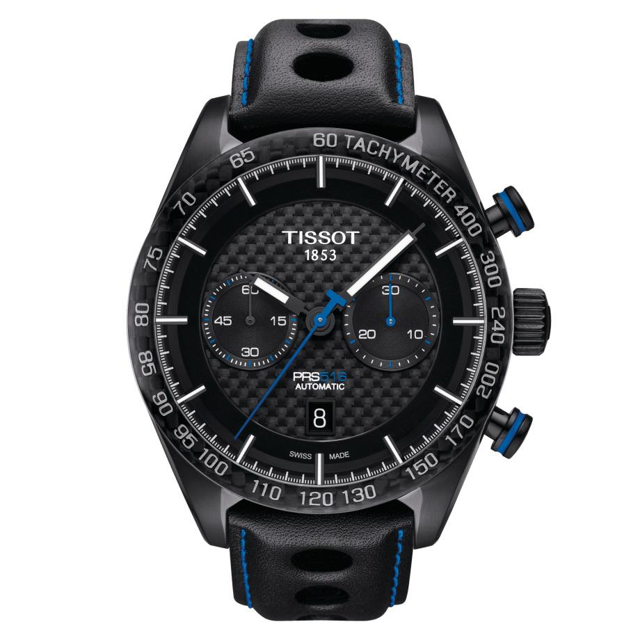 Tissot PRS 516 Chronograph Black PVD - Watches & Crystals