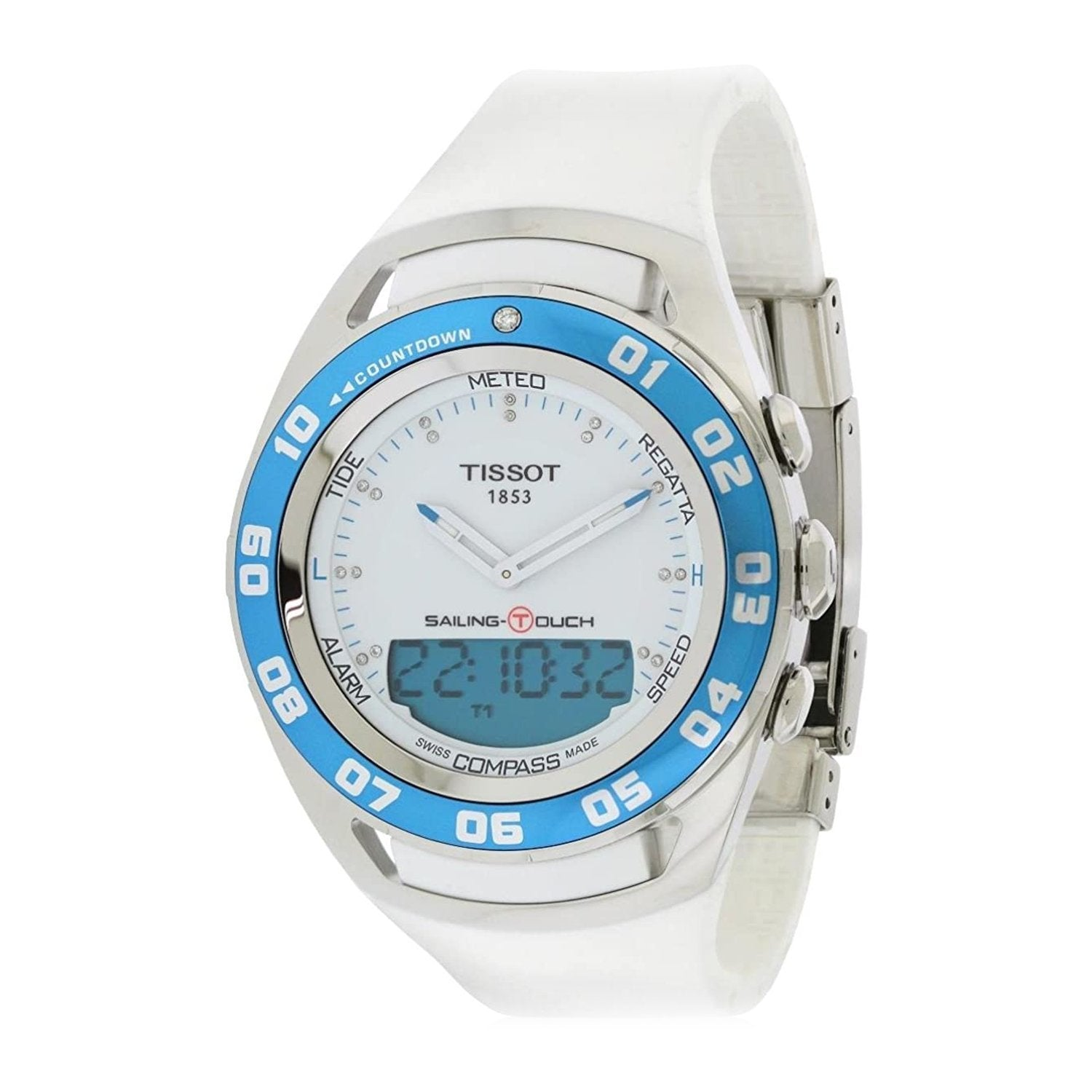 Tissot Sailing Touch Diamond White - Watches & Crystals