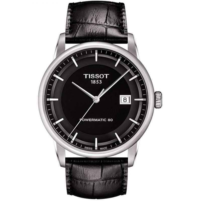 Tissot T-Classic Luxury Powermatic 80 Black - Watches & Crystals