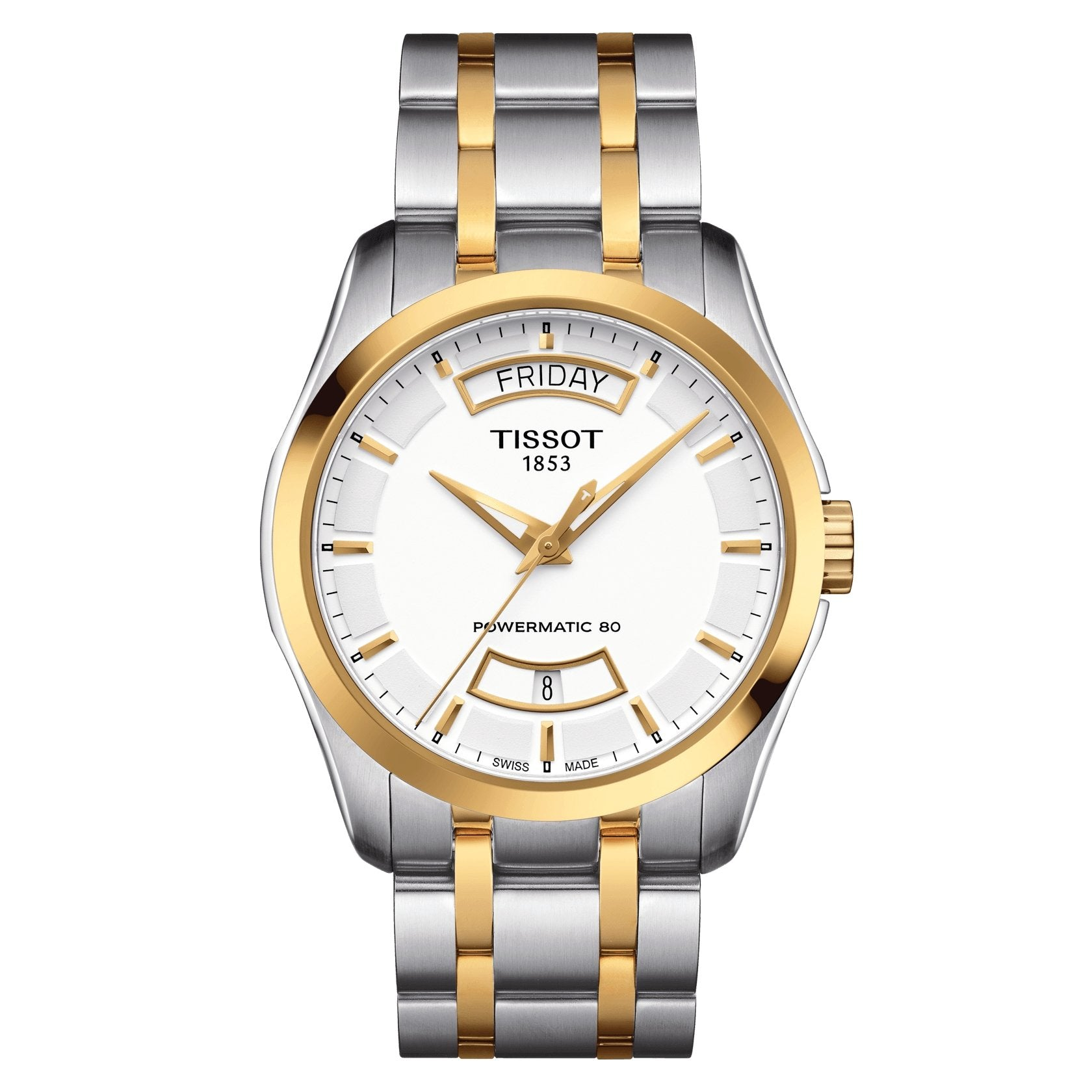 Tissot T-Classic Powermatic 80 Day Date Two Tone - Watches & Crystals